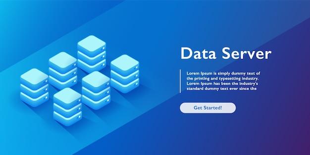 Datacenter database isometrisch