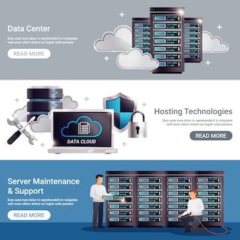 Datacenter horizontale banner set