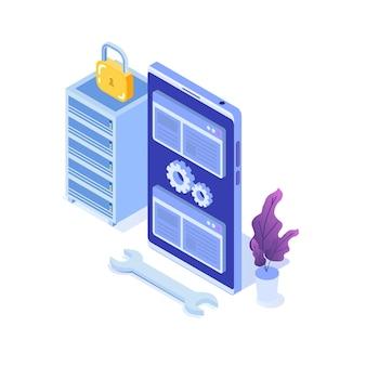 Datacenter illustratie