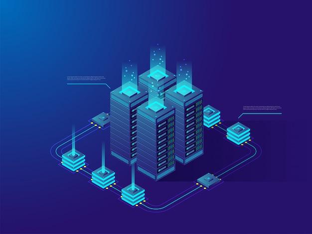 Datacenter of cryptocurrency-markt.