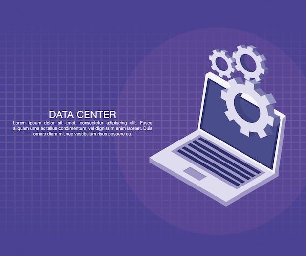 Datacenter-poster met informatie