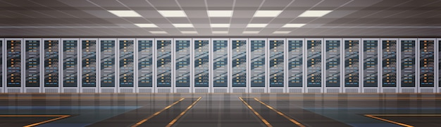 Datacenter room hosting server computerinformatie database synchroniseer technologie