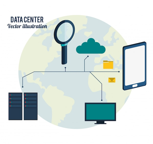 Datacenter-verbindingshardware-netwerk