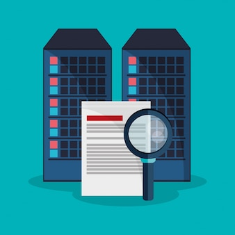 Datacenter zoekbestand ontwikkelaar systeem