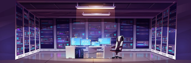 Datacenterruimte met serverhardware