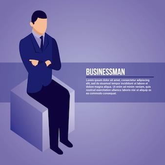Datanetwerk zakenman