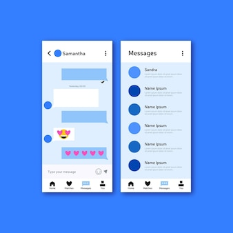 Dating app chat-interface