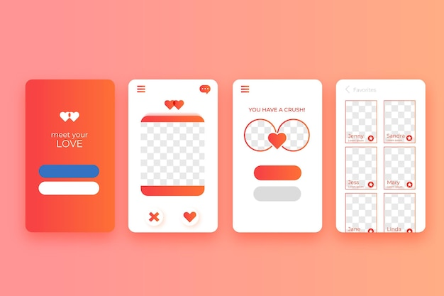 Dating app-interface concept