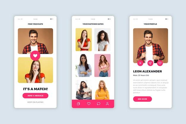 Dating app-interface ontwerp