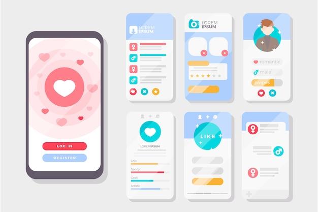 Dating app swipe-interface