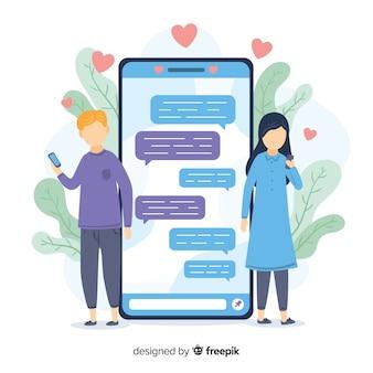 Dating applicatie concept