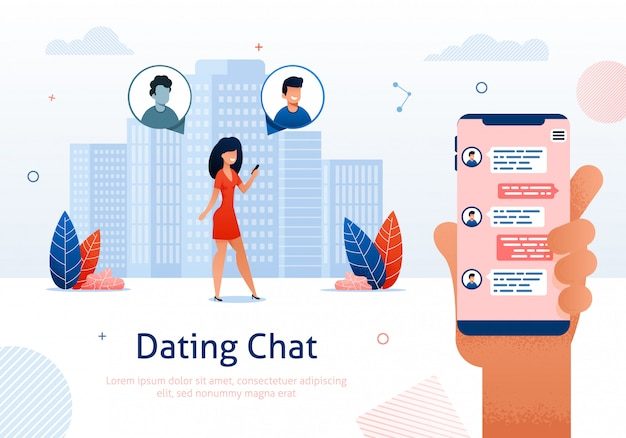 Dating chat op internet, online flirt, relaties.