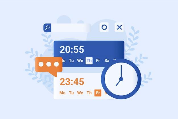 Datum concept vectorillustratie