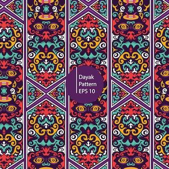 Dayak borneo kleurrijke patroon achtergrond