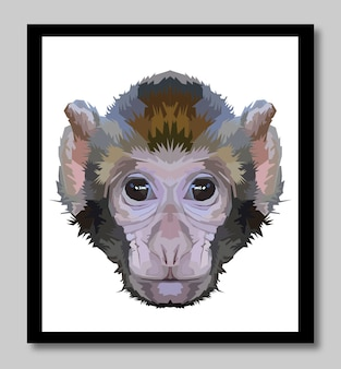 De aap lijn popart portret