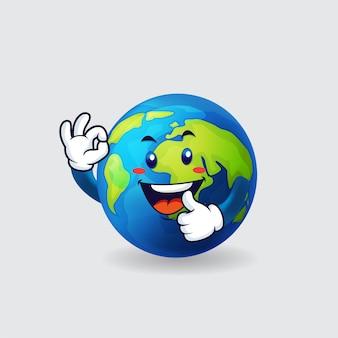 De aarde zegt ok op geïsoleerde achtergrond