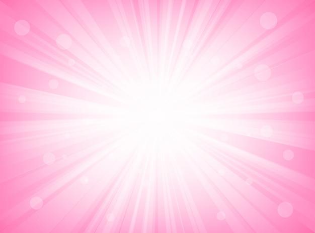 De abstracte achtergrond van zonnestraal roze radiale lijnen