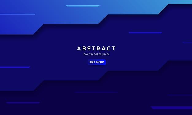 De abstracte blauwe achtergrond met pijlvorm en snelheid beïnvloedt en modern technologieconcept