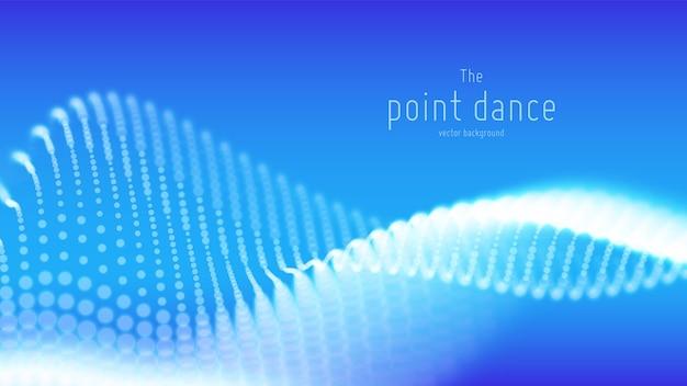 De abstracte blauwe achtergrond van de deeltjesgolf