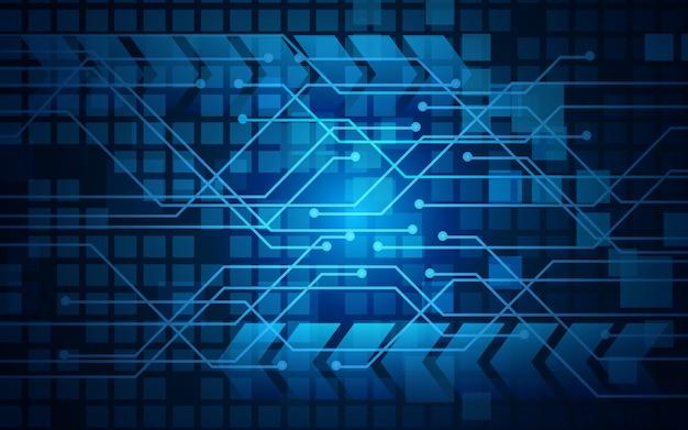De abstracte blauwe achtergrond van de textuur digitale technologie