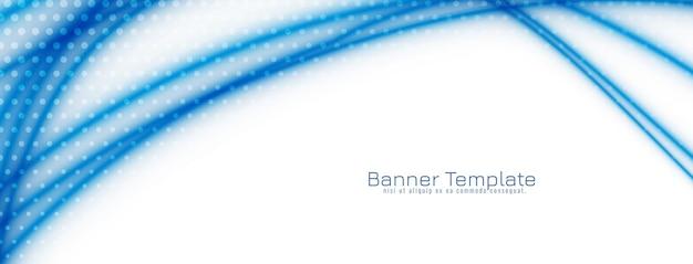 De abstracte blauwe banner van het golfontwerp
