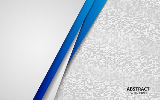 De abstracte blauwe en witte achtergrond van overlappingslagen