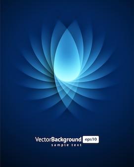 De abstracte blauwe vlotte vectorachtergrond van draai lichte lijnen.