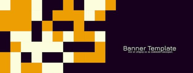 De abstracte decoratieve banner van het mozaïekontwerp