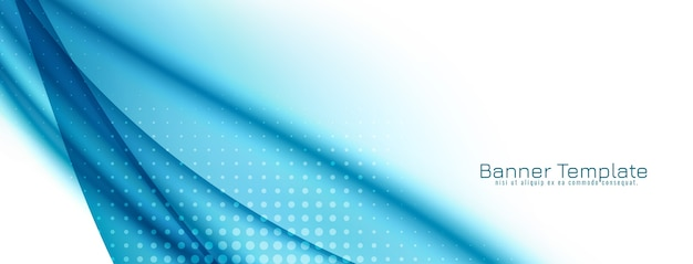 De abstracte decoratieve blauwe banner van het golfontwerp