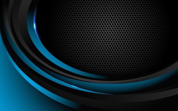 De abstracte donkerblauwe achtergrond combineert met lichteffect.
