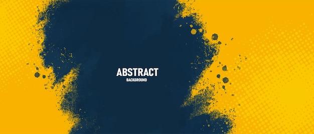De abstracte donkerblauwe en gele achtergrond van de grungetextuur