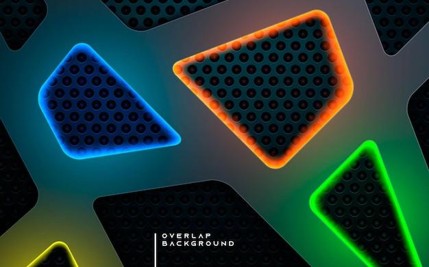 De abstracte donkere achtergrond van de textuurdimensie met kleurrijk licht