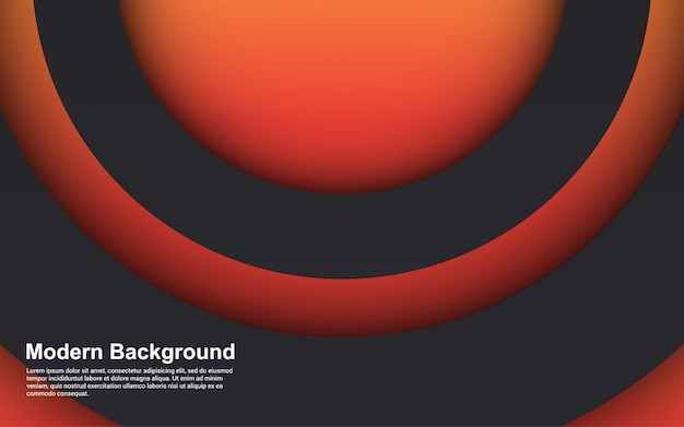 De abstracte gradiënten van de achtergrond 3d cirkel papercut kleuren modern ontwerp