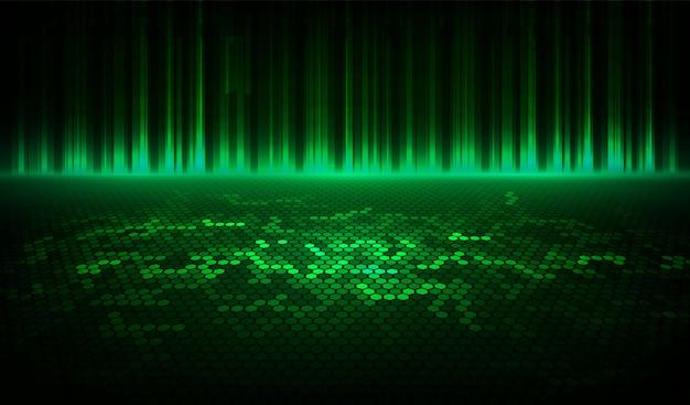De abstracte halftone groene achtergrond bestaat uit verschillende zeshoek.