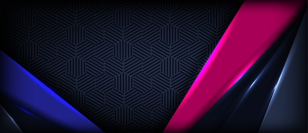 De abstracte kleurrijke achtergrond van de golfbanner met overlappingslagen