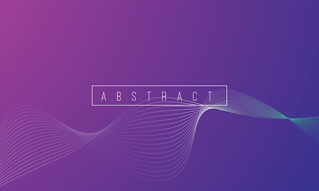De abstracte kleurrijke achtergrond van de lijngolf