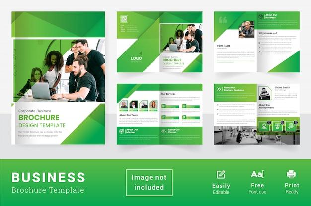 De abstracte kleurrijke bedrijfsbrochure van meerdere pagina's bi vouwen