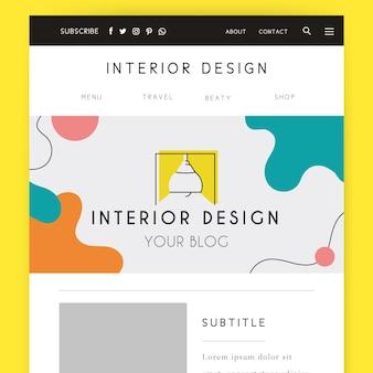 De abstracte kleurrijke koptekst van de ontwerpblog