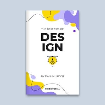 De abstracte kleurrijke omslag van het ontwerpboek