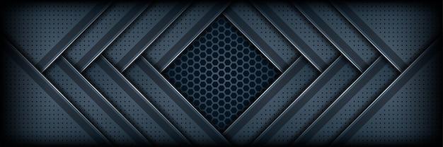De abstracte moderne donkerblauwe geweven achtergrond van de laagoverlapping