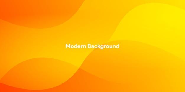 De abstracte moderne kleurrijke banner van de gradiënt oranjegele kromme