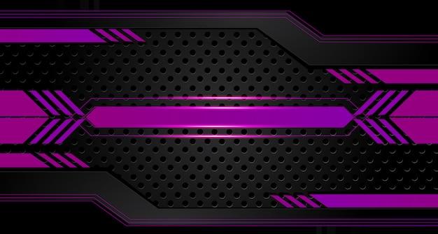 De abstracte vector grafische achtergrond van het brochureontwerp paars en zwart