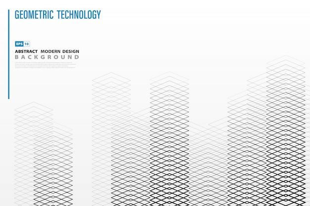 De abstracte vierkante geometrische achtergrond van het rooilijnpatroon.