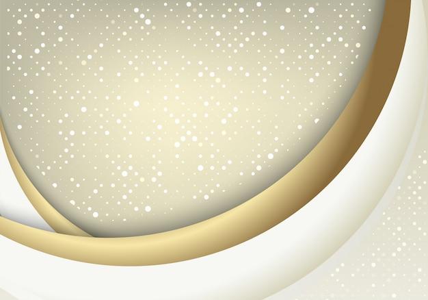 De abstracte witgoudachtergrond combineert met licht schittert effect.