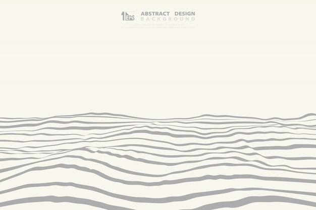 De abstracte witte en grijze golvende achtergrond van de ontwerpdecoratie.