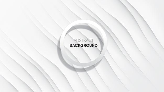 De abstracte witte vlotte achtergrond van de zijdestof met cirkelkader.