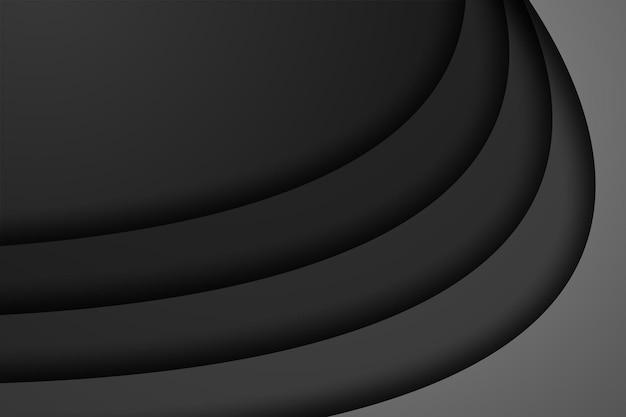 De abstracte zwarte moderne achtergrond van de overlappingsdimensie