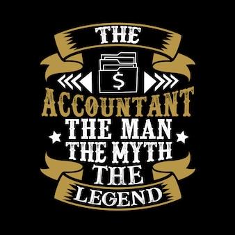 De accountant de man de mythe de legende