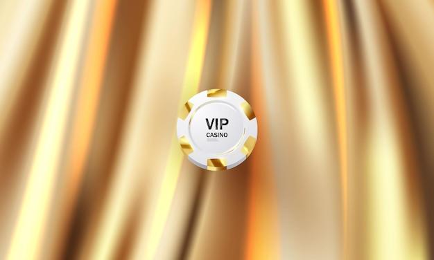 De achtergrond is een gouden theatergordijn vip. illustratie in vector-formaat.