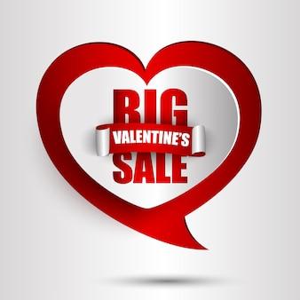 De achtergrond van de de dagverkoop van de grote valentijnskaart